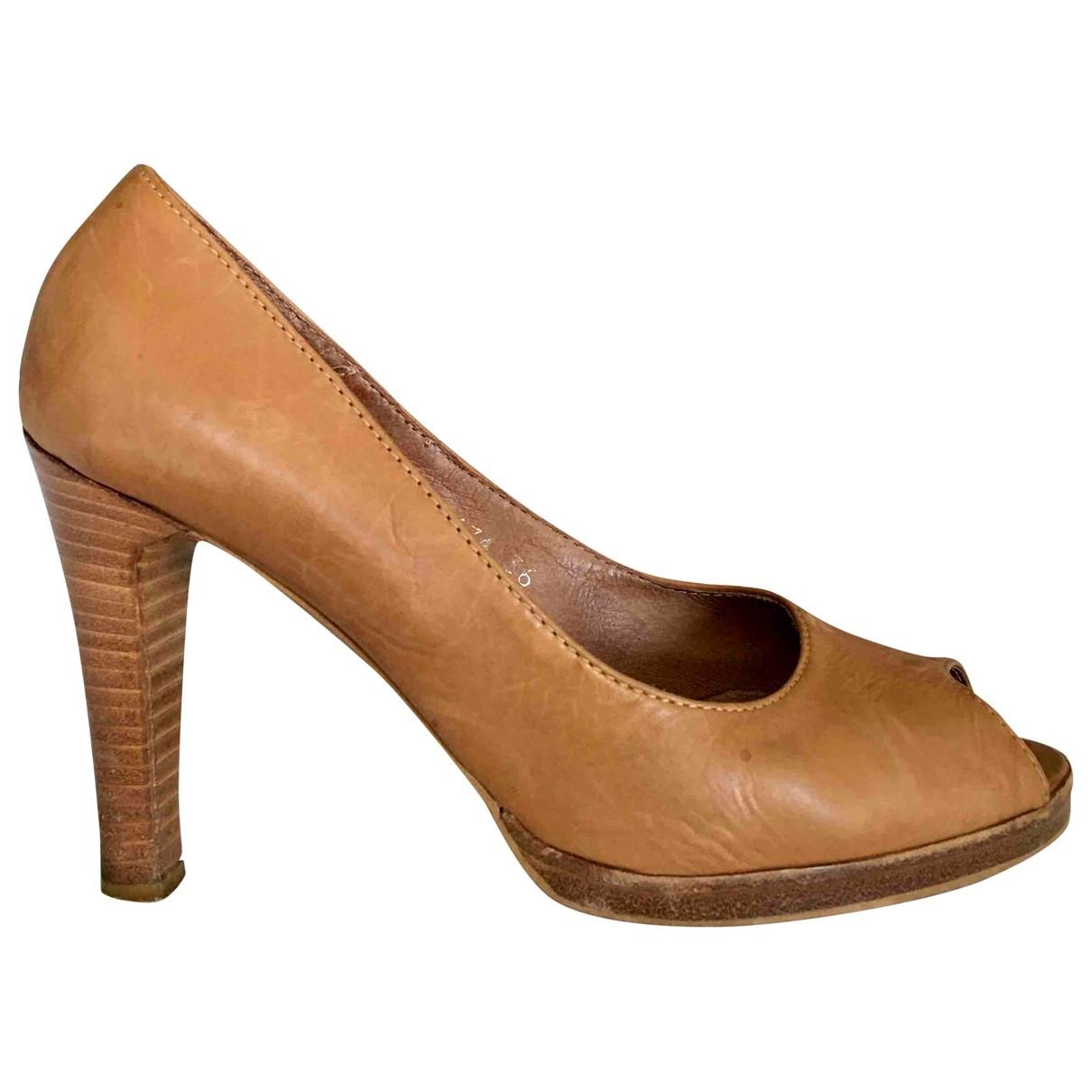 Comptoir Des Cotonniers - Escarpins   pour femme en cuir - beige