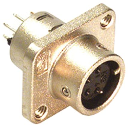 Hirose Connector, 4 contacts Panel Mount Miniature Socket, Through Hole