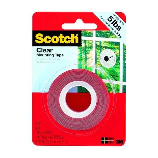 Scotch® Mounting Tape, Clear | Michaels®