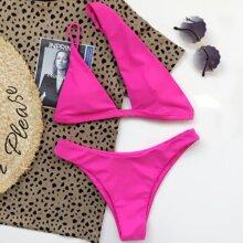 Bikini Badeanzug mit Ausschnitt und einem Ärmel