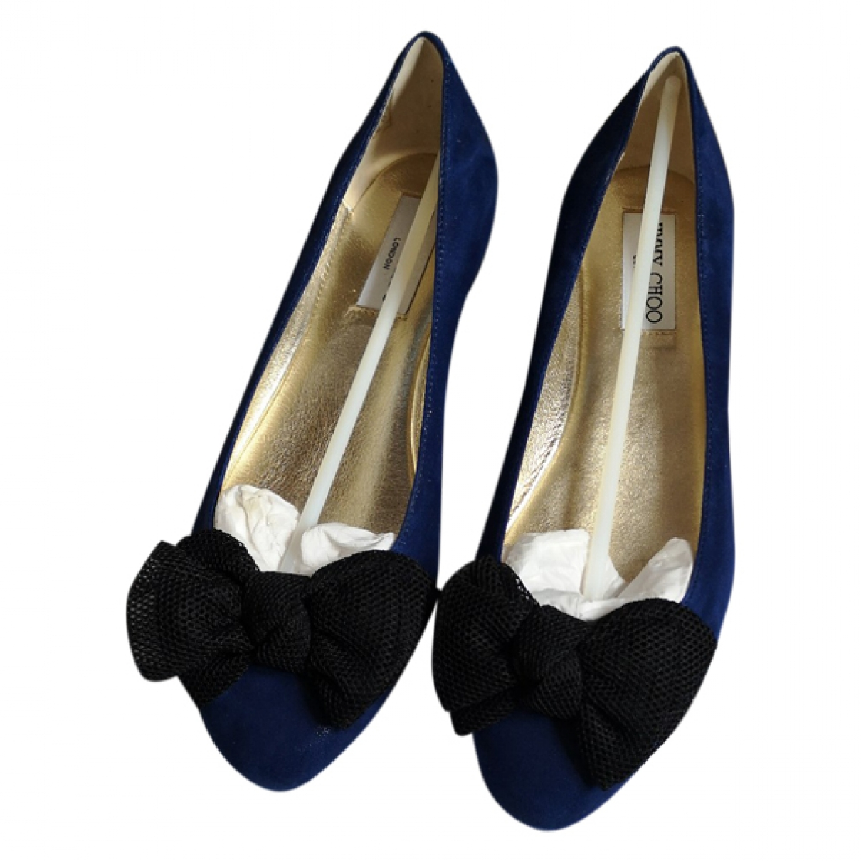 Jimmy Choo \N Mokassins in  Blau Leder
