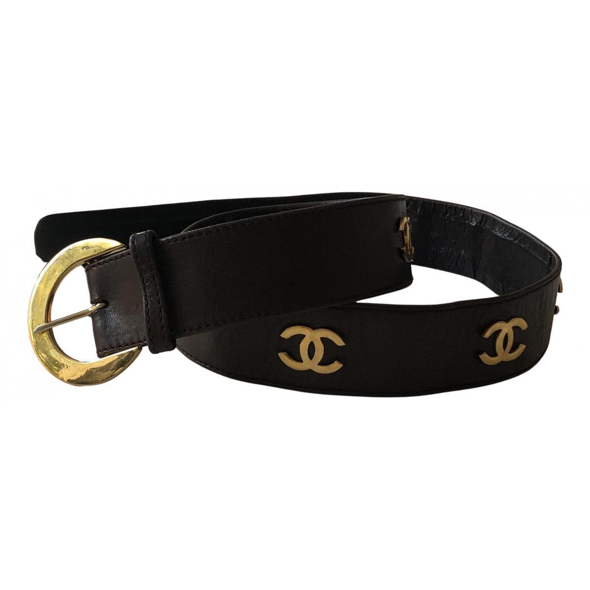 Chanel \N Guertel in  Braun Leder