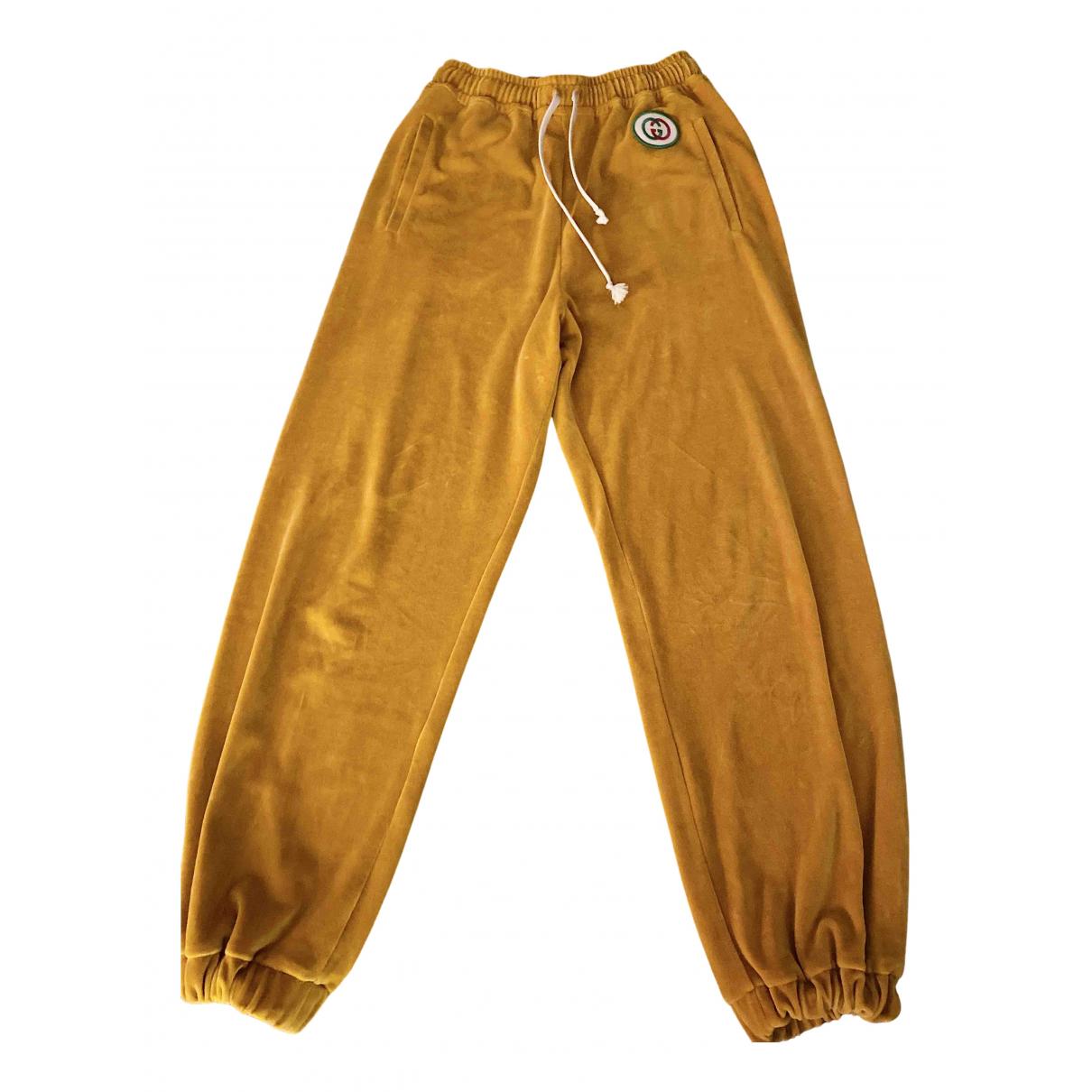 Gucci N Yellow Velvet Trousers for Women S International
