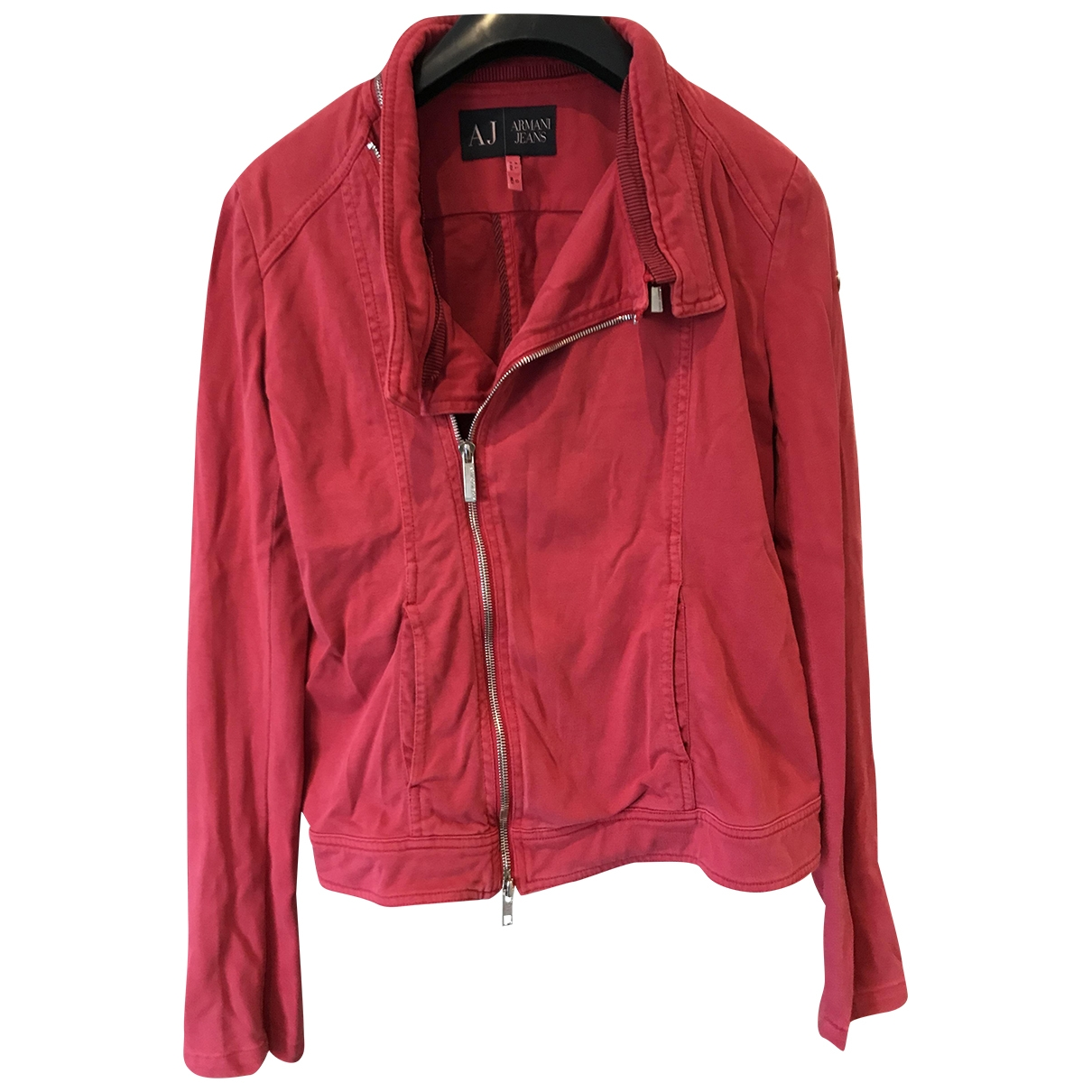 Armani Jean - Blouson   pour femme en coton - rouge