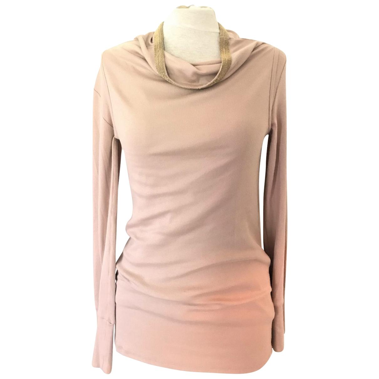 Brunello Cucinelli - Pull   pour femme en coton - rose