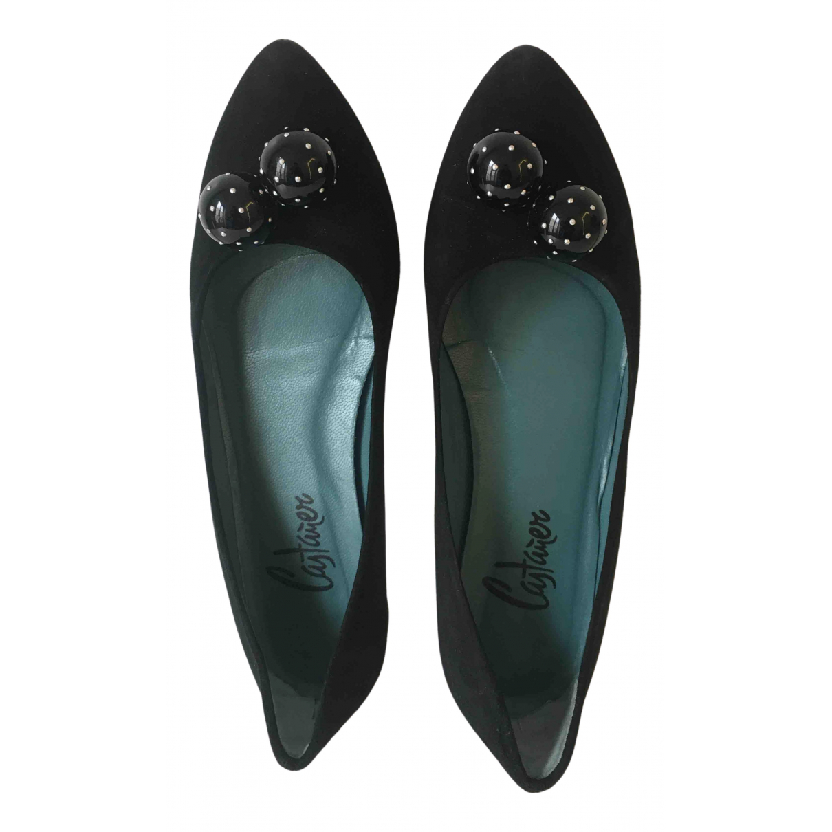 Castaner N Black Suede Ballet flats for Women 38 EU