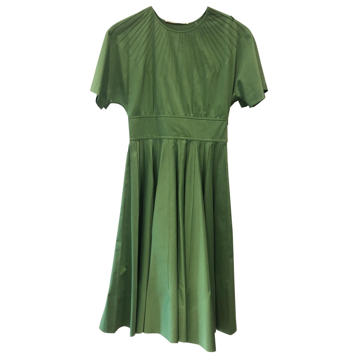 Diane Von Furstenberg \N Kleid in  Gruen Baumwolle