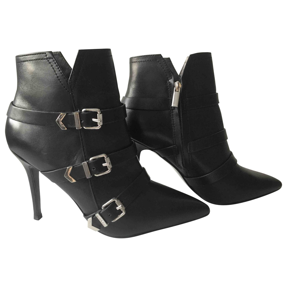 Diesel \N Black Leather Ankle boots for Women 39 EU