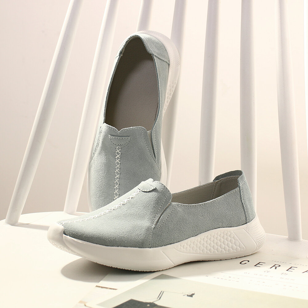 Large Sizes Women Solid Color Soft Bottom Flat Shoes