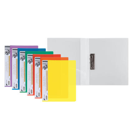 Winnable Polypropylene Side Spring-action Clamp Report Cover, 1 cover per pack - Assorted Colours
