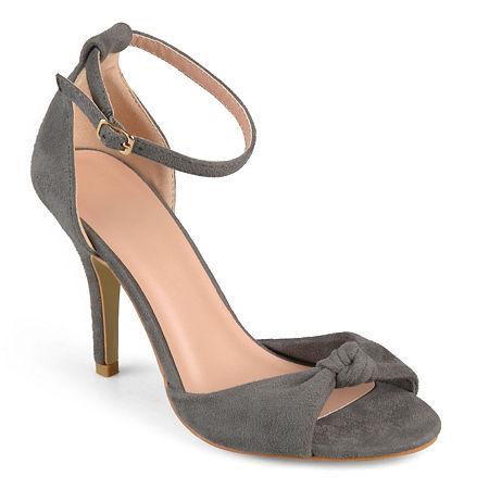 Journee Collection Womens Quincy Pumps Spike Heel, 9 Medium, Gray