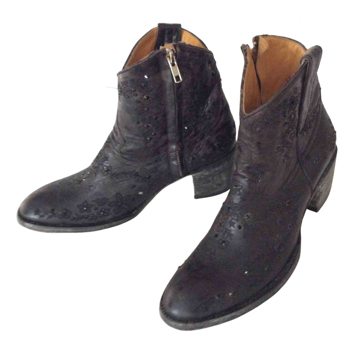 Old Gringo \N Black Leather Ankle boots for Women 40 EU