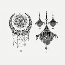 Tattoo Aufkleber mit Grafik Muster 2 Blaetter