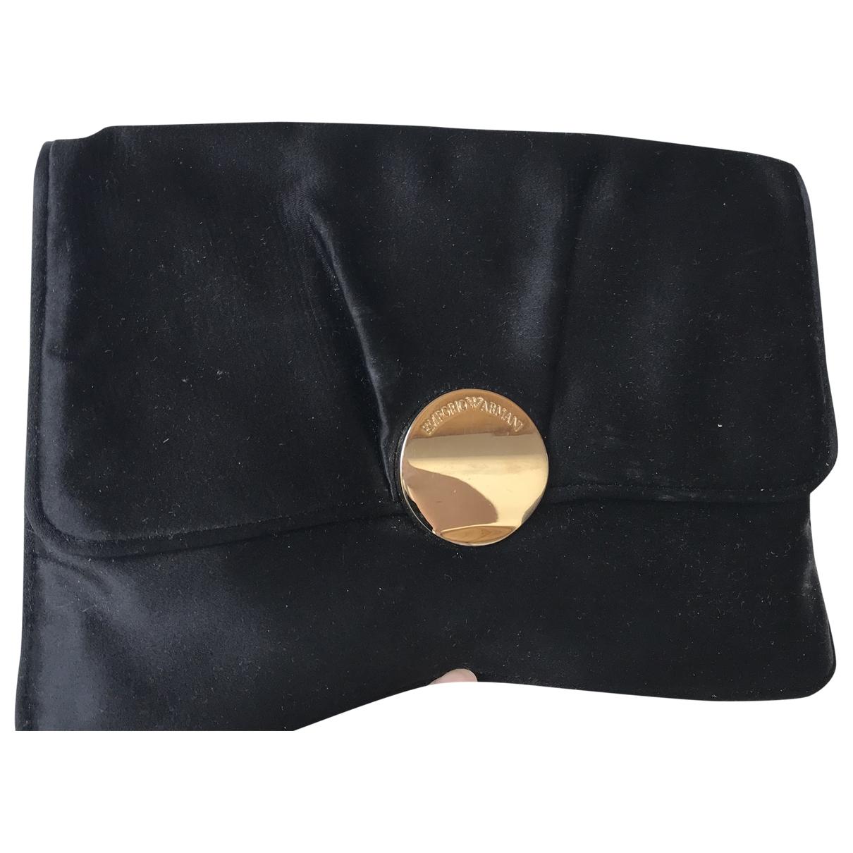 Emporio Armani - Pochette   pour femme en toile - noir