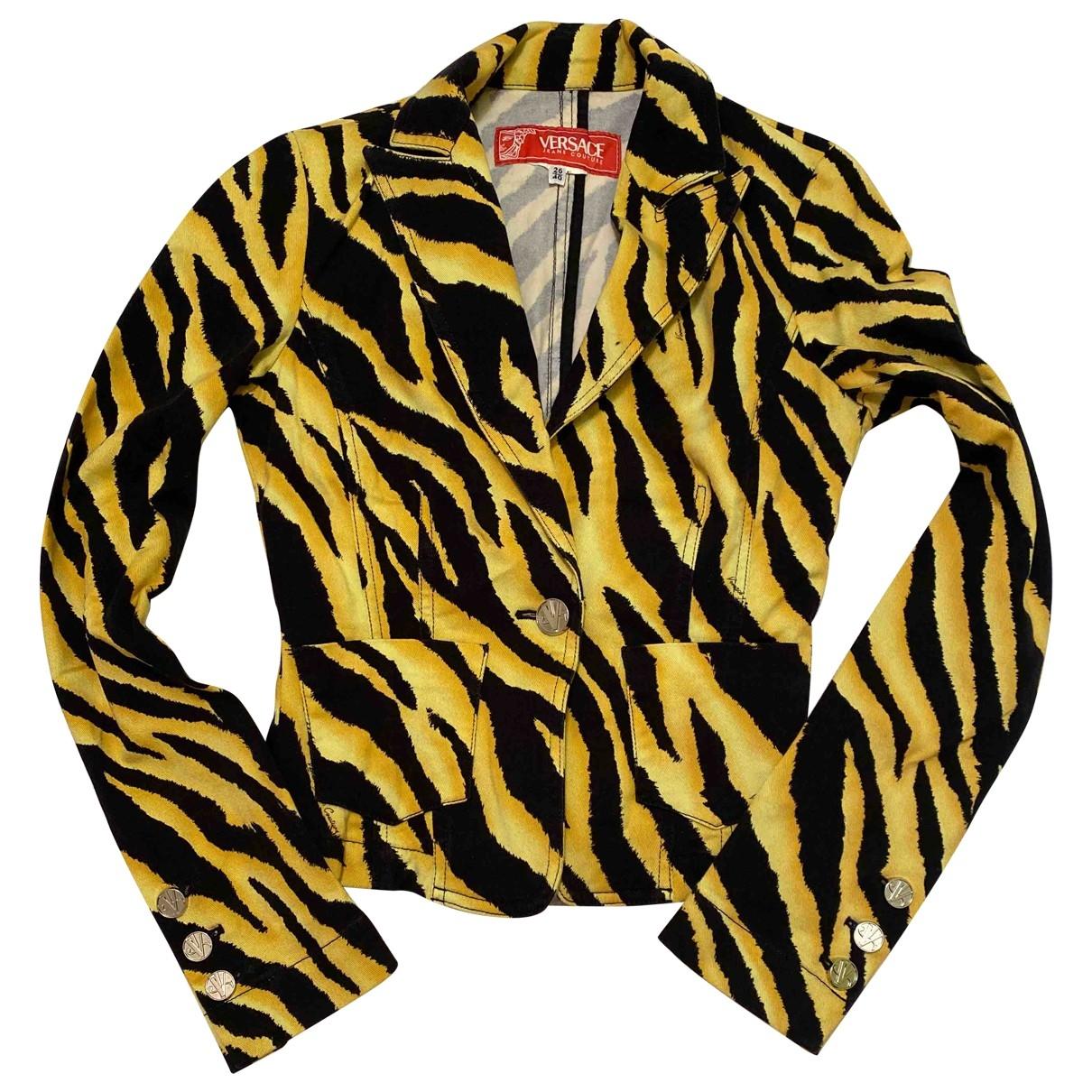 Versace Jean - Veste   pour femme en coton - jaune