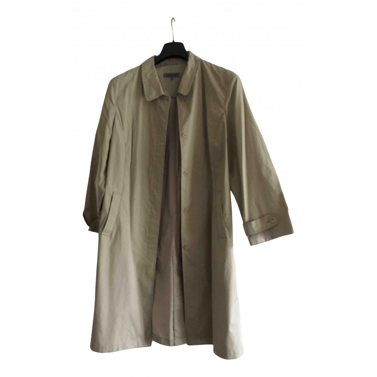 Non Signé / Unsigned N Beige Cotton coat for Women 48 FR
