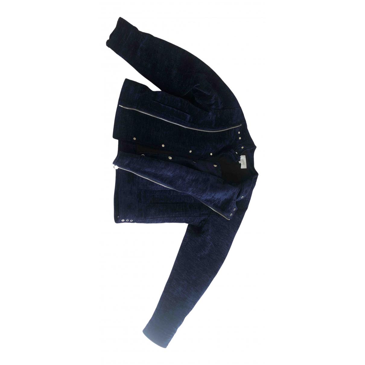 Carven - Veste   pour femme en velours - bleu