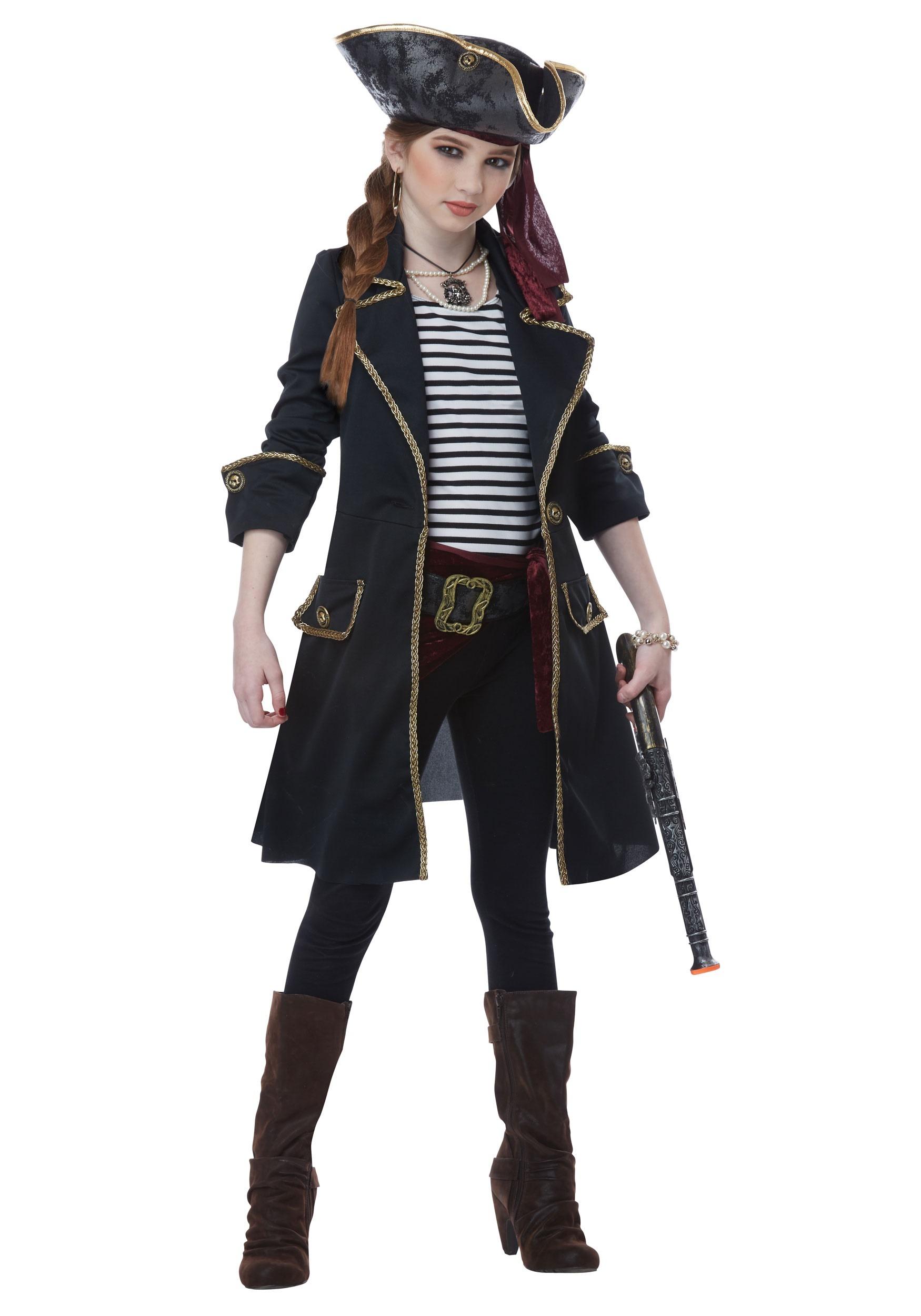 High Seas Captain Costume for Girls