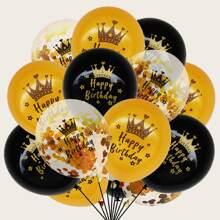 15 piezas set globo decorativo de cumpleaños