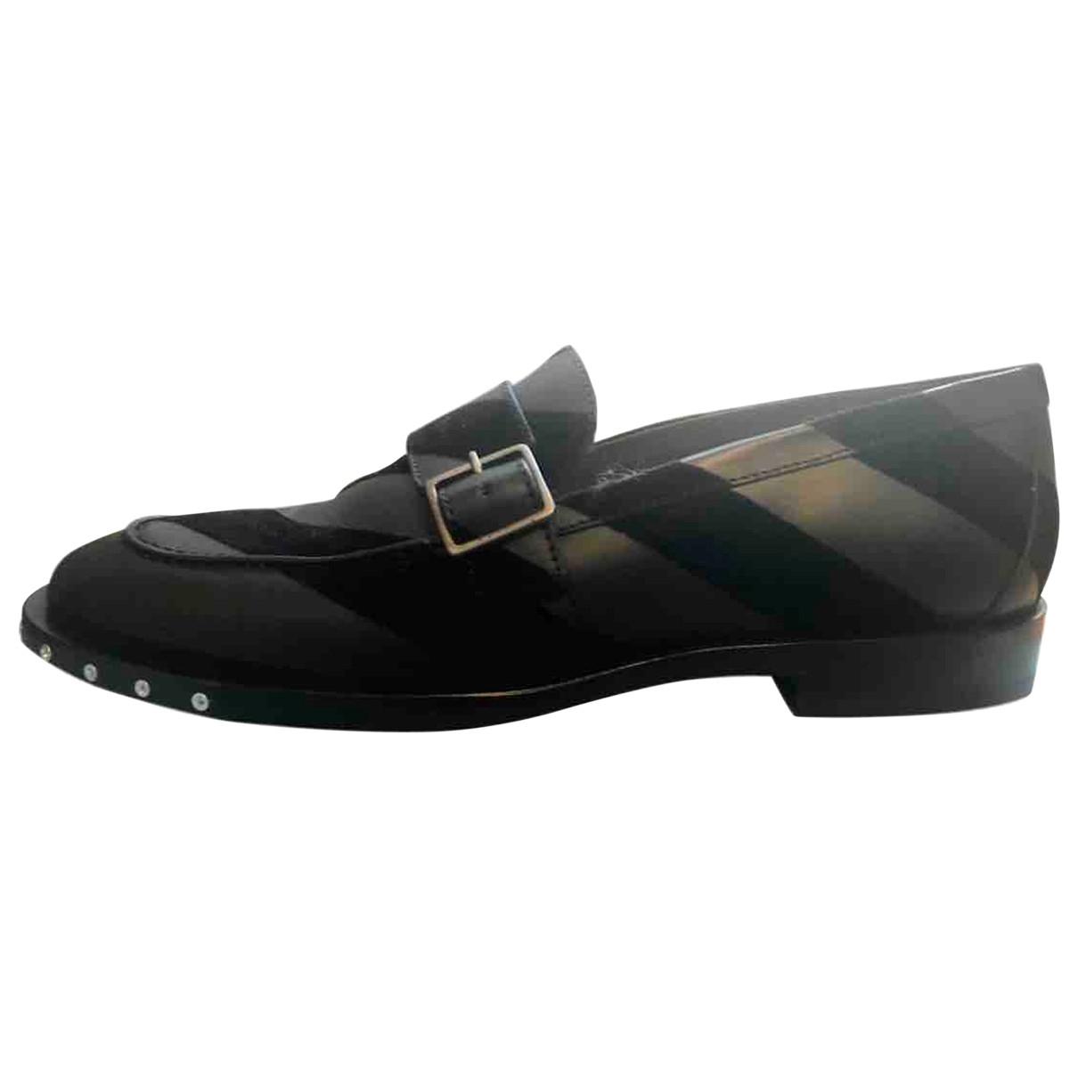 Lanvin \N Black Leather Flats for Men 44 EU