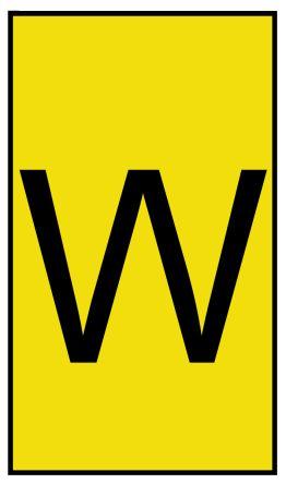HellermannTyton Ovalgrip Slide On Cable Marker, Pre-printed W Black on Yellow 2.5 → 6mm Dia. Range