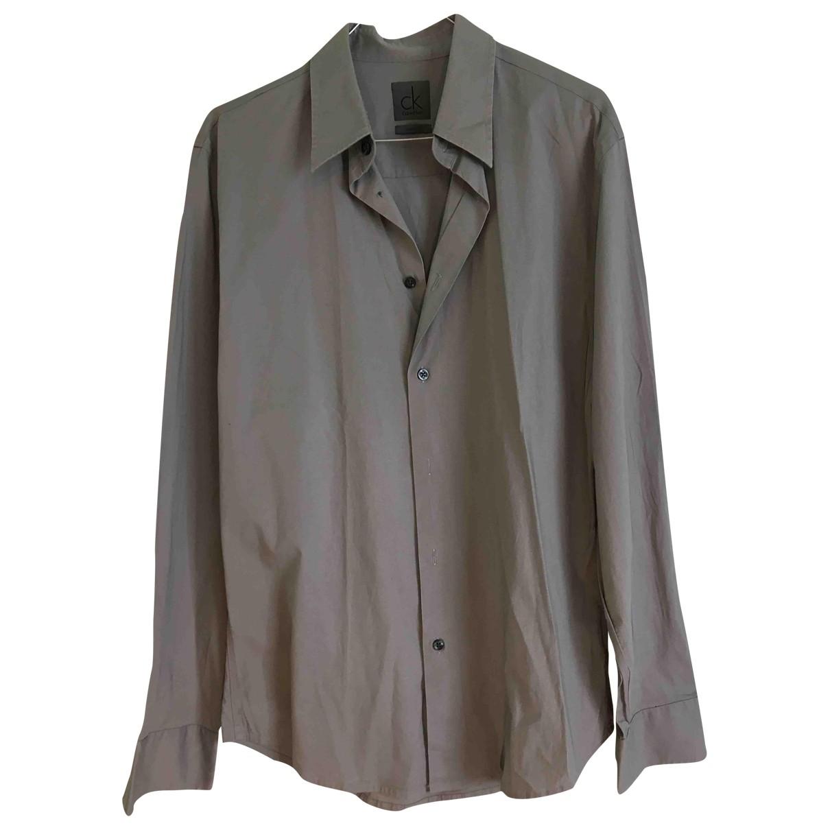 Calvin Klein - Tee shirts   pour homme - gris