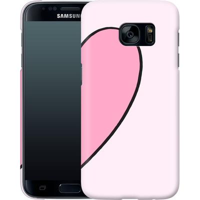 Samsung Galaxy S7 Smartphone Huelle - Half Heart Right von caseable Designs