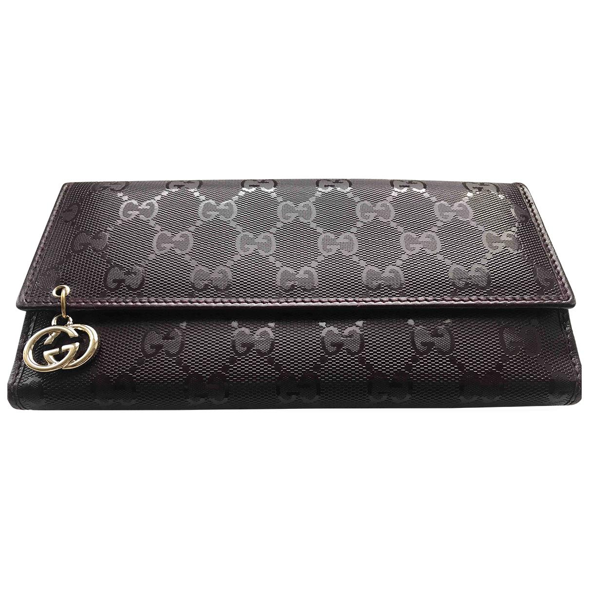 Gucci \N Burgundy Cloth wallet for Women \N