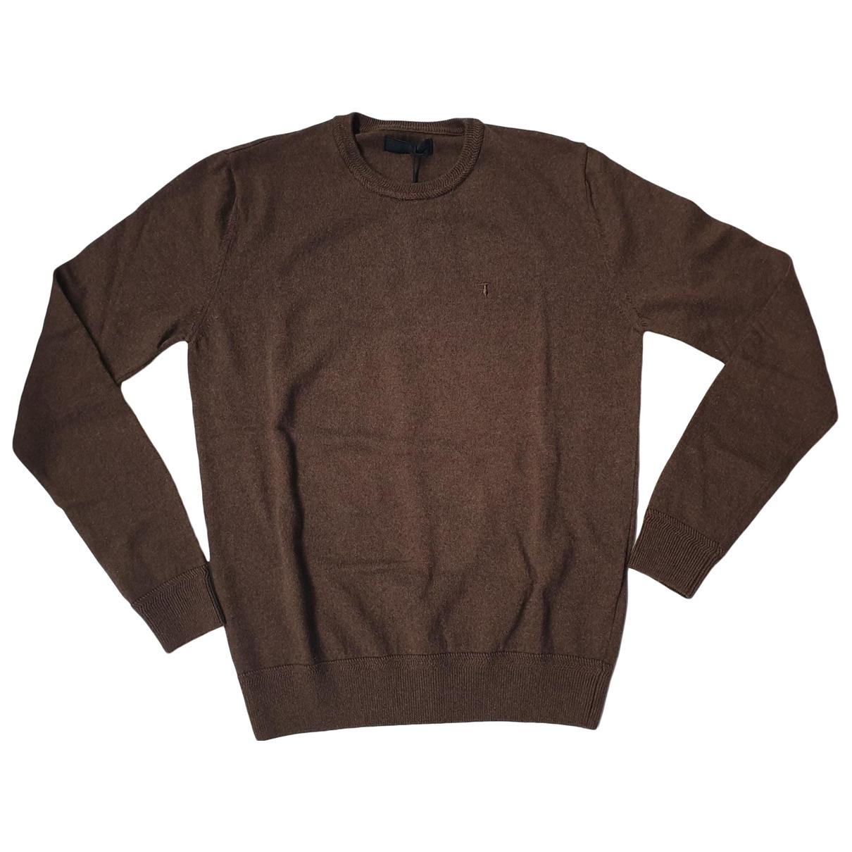 Trussardi - Pulls.Gilets.Sweats   pour homme en coton - marron
