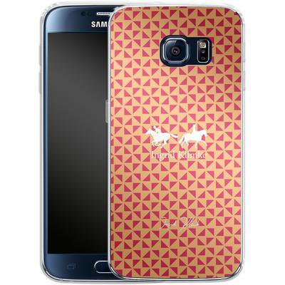 Samsung Galaxy S6 Silikon Handyhuelle - Triangle Silhouette von Ingrid Klimke