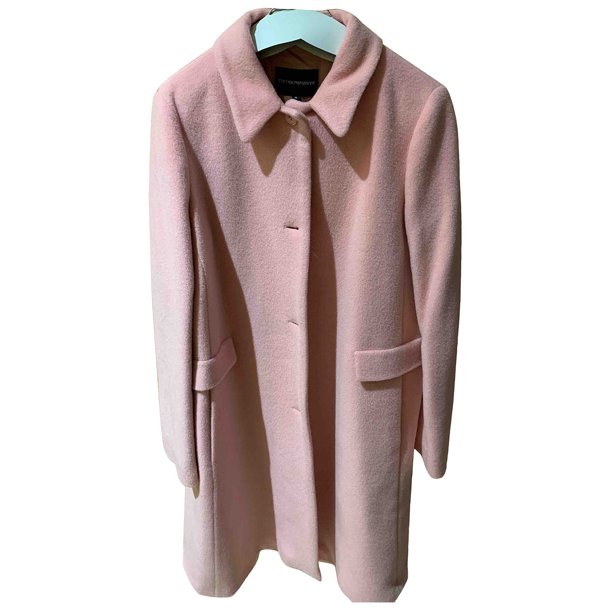 Emporio Armani - Manteau   pour femme en laine - rose