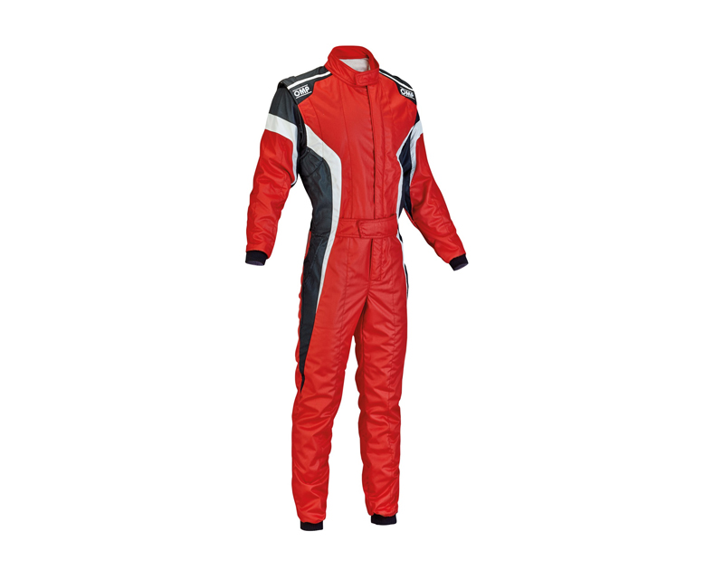 OMP Racing IA0185006348 FIA 2 Layer Tecnica-S Racing Suit Red, White and Black: 48