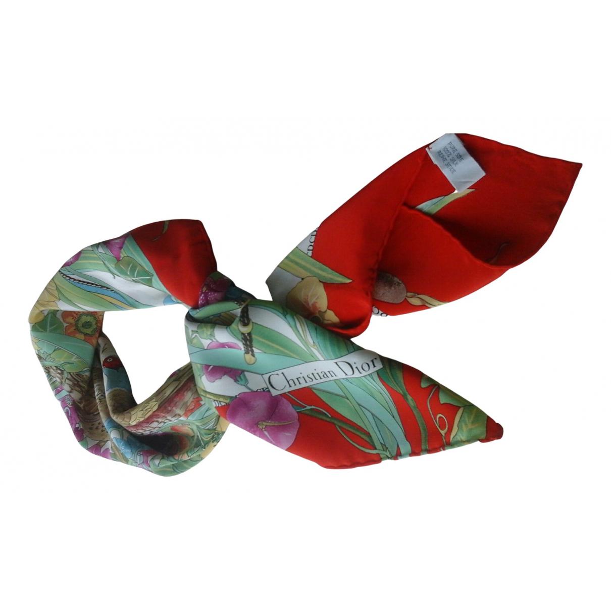 Dior - Carre   pour femme en soie - rouge