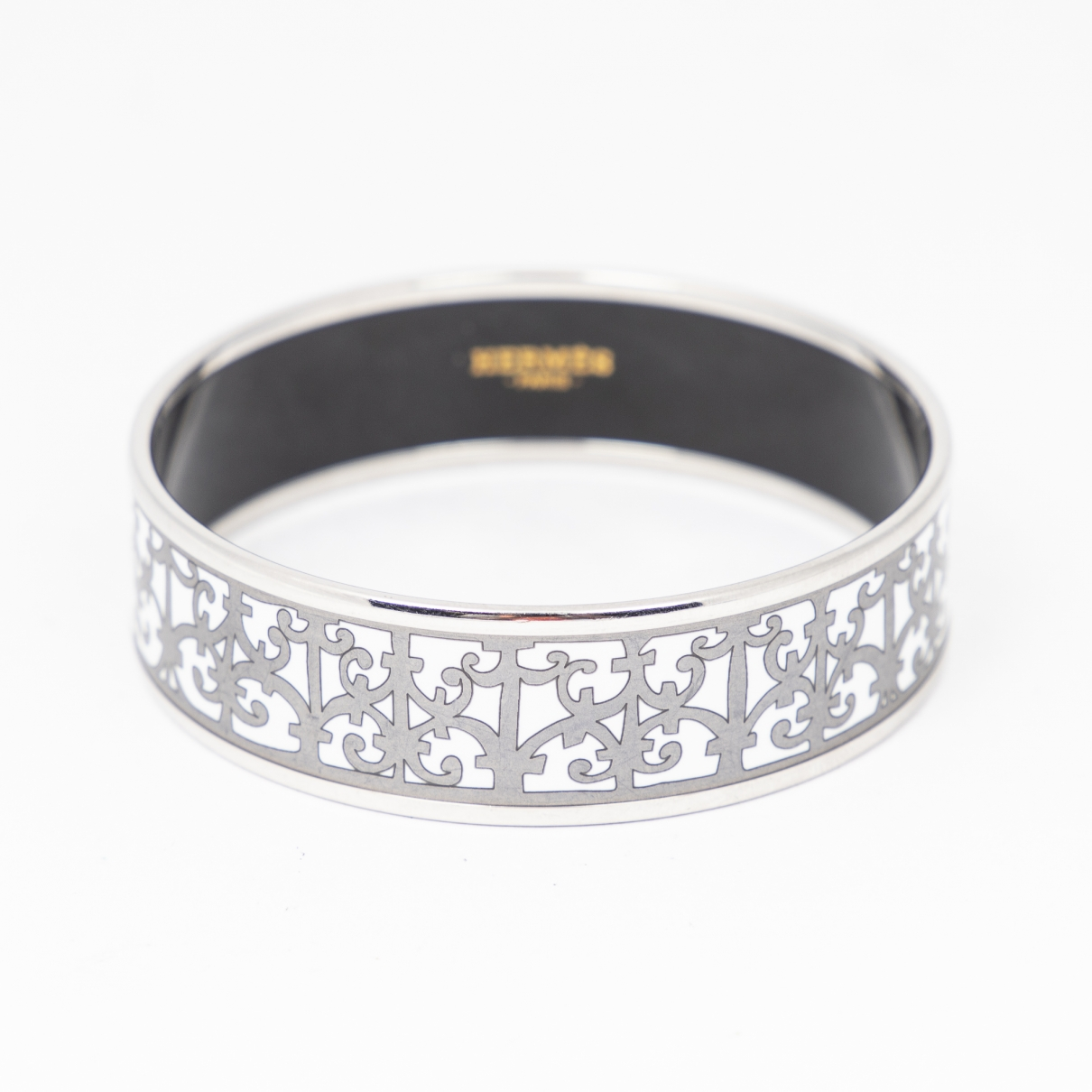 Hermes - Bracelet   pour femme en argent - blanc
