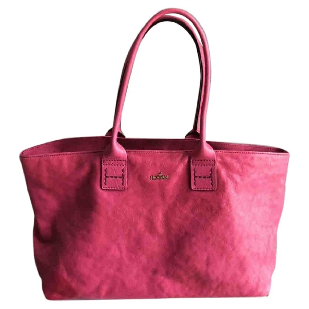 Hogan \N Pink Leather handbag for Women \N