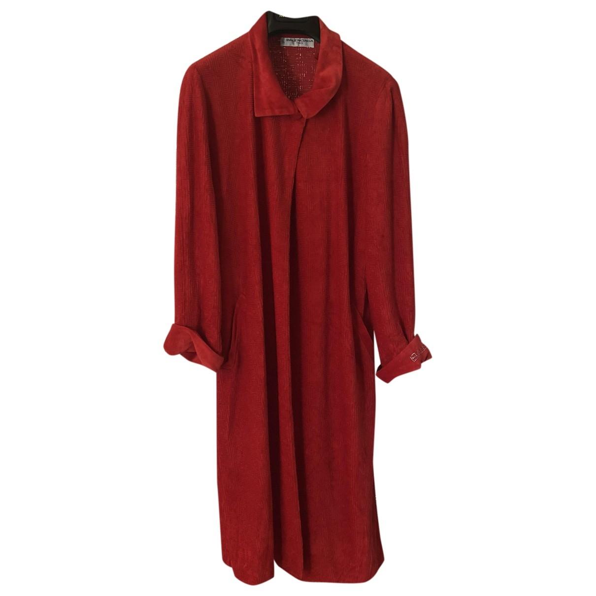 Balenciaga - Bain   pour femme en coton - rouge