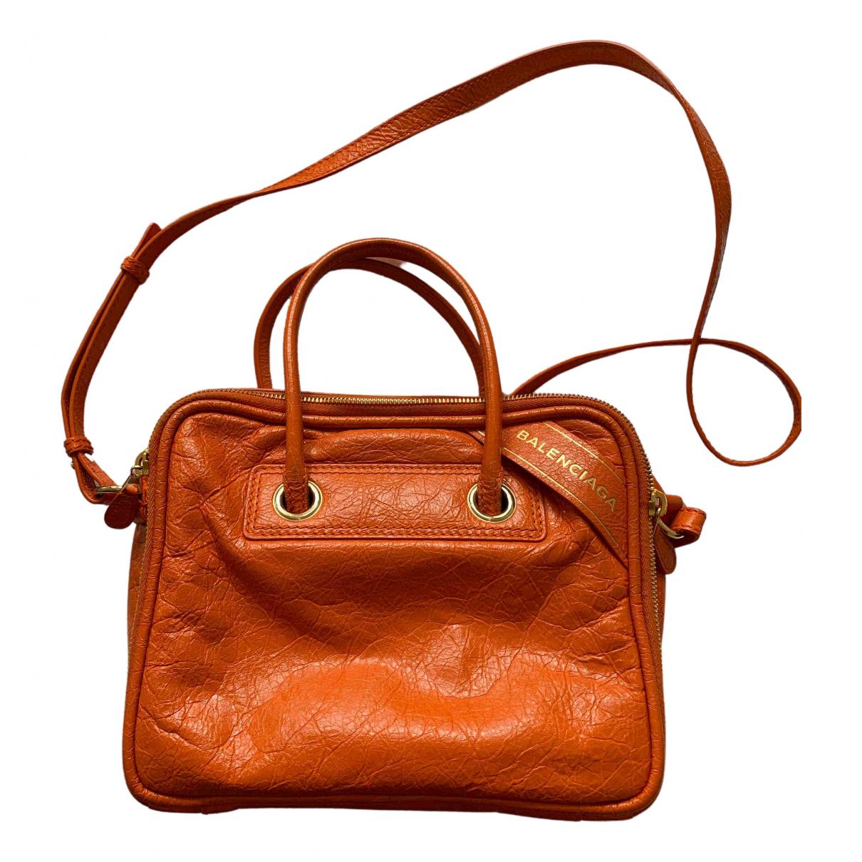 Balenciaga - Sac a main Blanket pour femme en cuir - orange