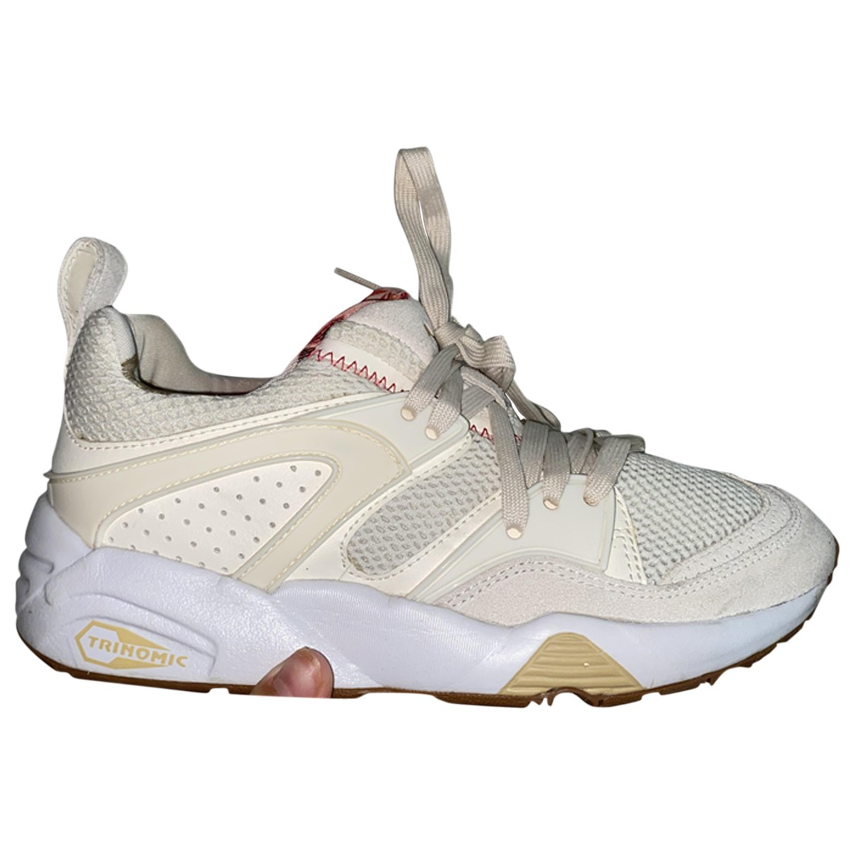 Puma \N Sneakers in  Beige Veloursleder