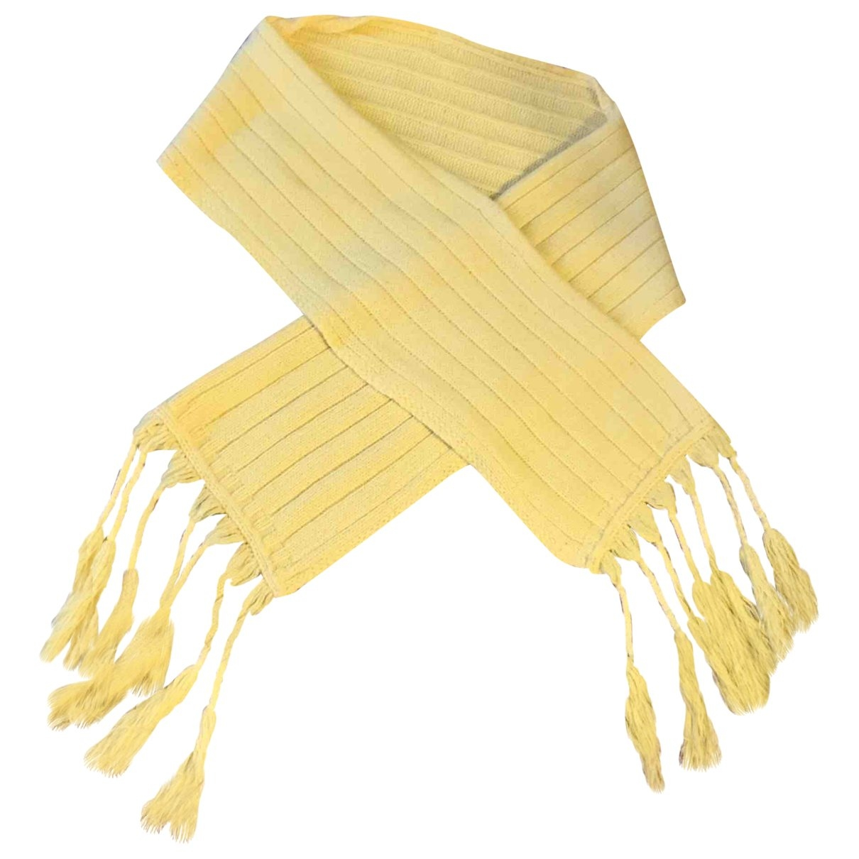 Maje \N Yellow Wool scarf for Women \N