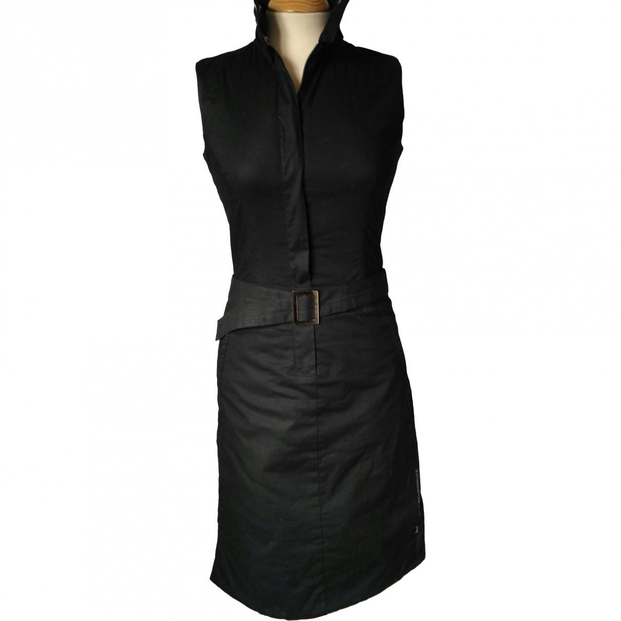 Adolfo Dominguez \N Kleid in  Schwarz Baumwolle - Elasthan