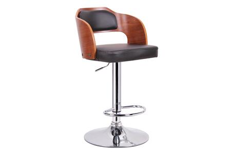 SD-2017-2-WALNUT/BLACK-PSTL Baxton Studio Sitka Modern Bar Stool  In Walnut And