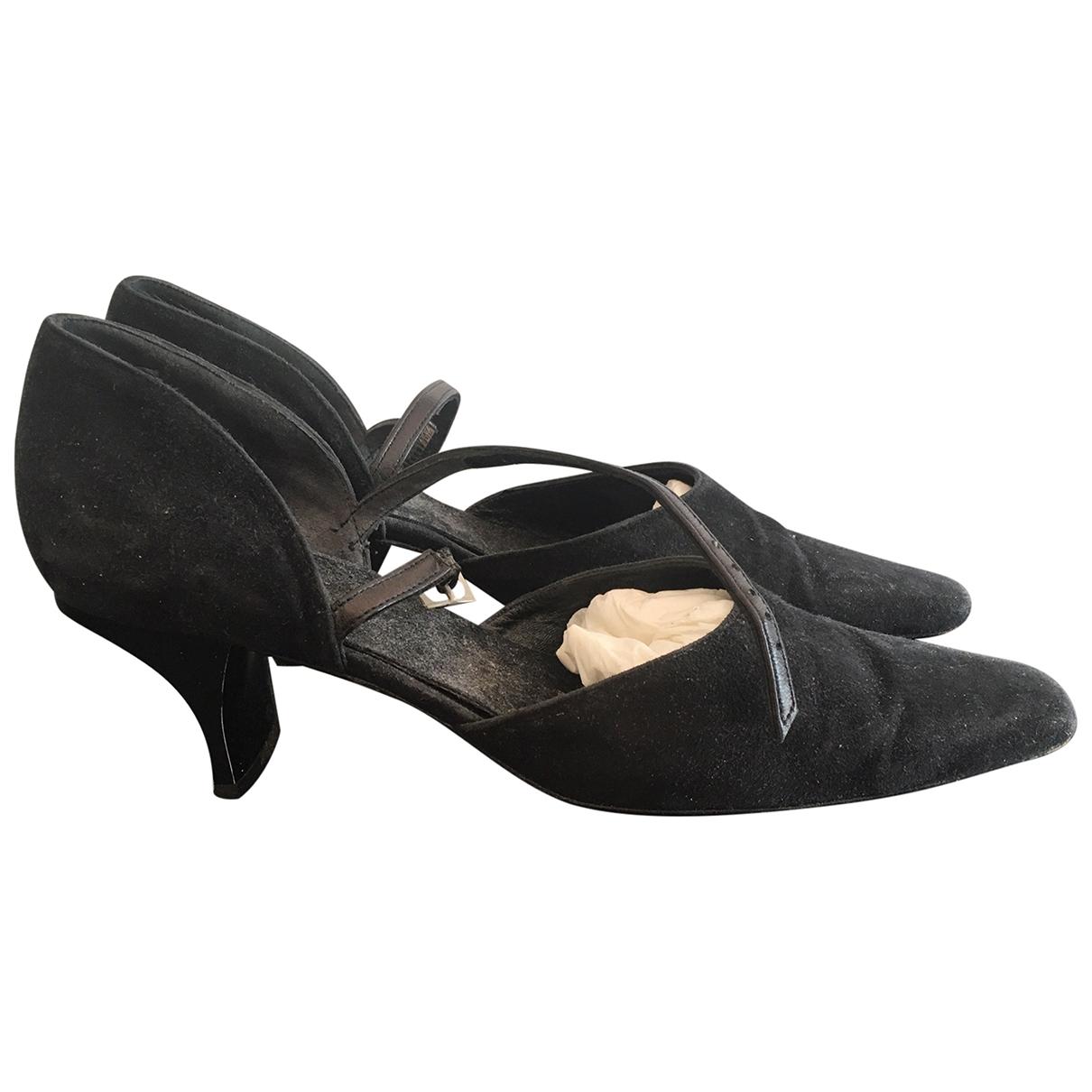Robert Clergerie \N Black Pony-style calfskin Heels for Women 6.5 US
