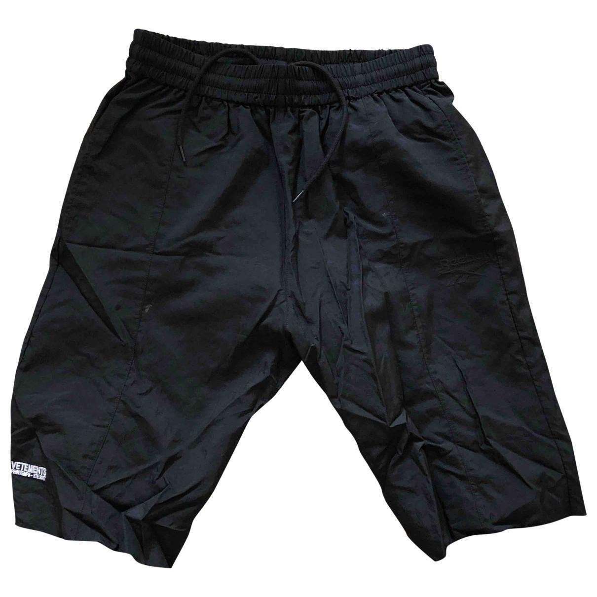 Reebok X Vetements \N Shorts in  Schwarz Polyester