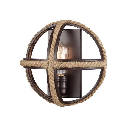 63061-1 Natural Rope 1 Wall Sconce Oil Rubbed