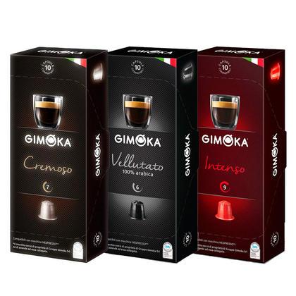 Gimoka Nespresso Dosettes de café Combo de 3 (30 Cupsules) 0,32/Dosette
