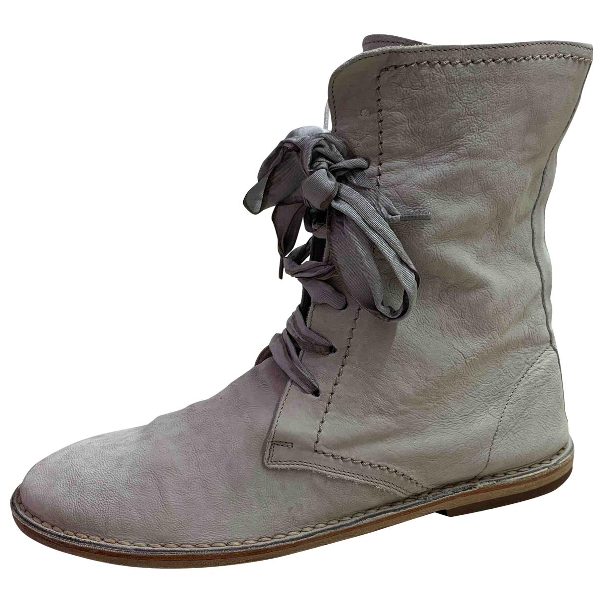 Brunello Cucinelli - Boots   pour femme en cuir - beige