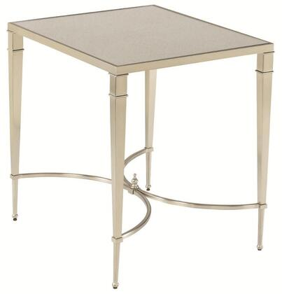 Mallory Collection 173-915 RECTANGULAR END TABLE in Satin Nickel and Antique