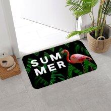 1 Stueck Teppich mit Flamingo Muster