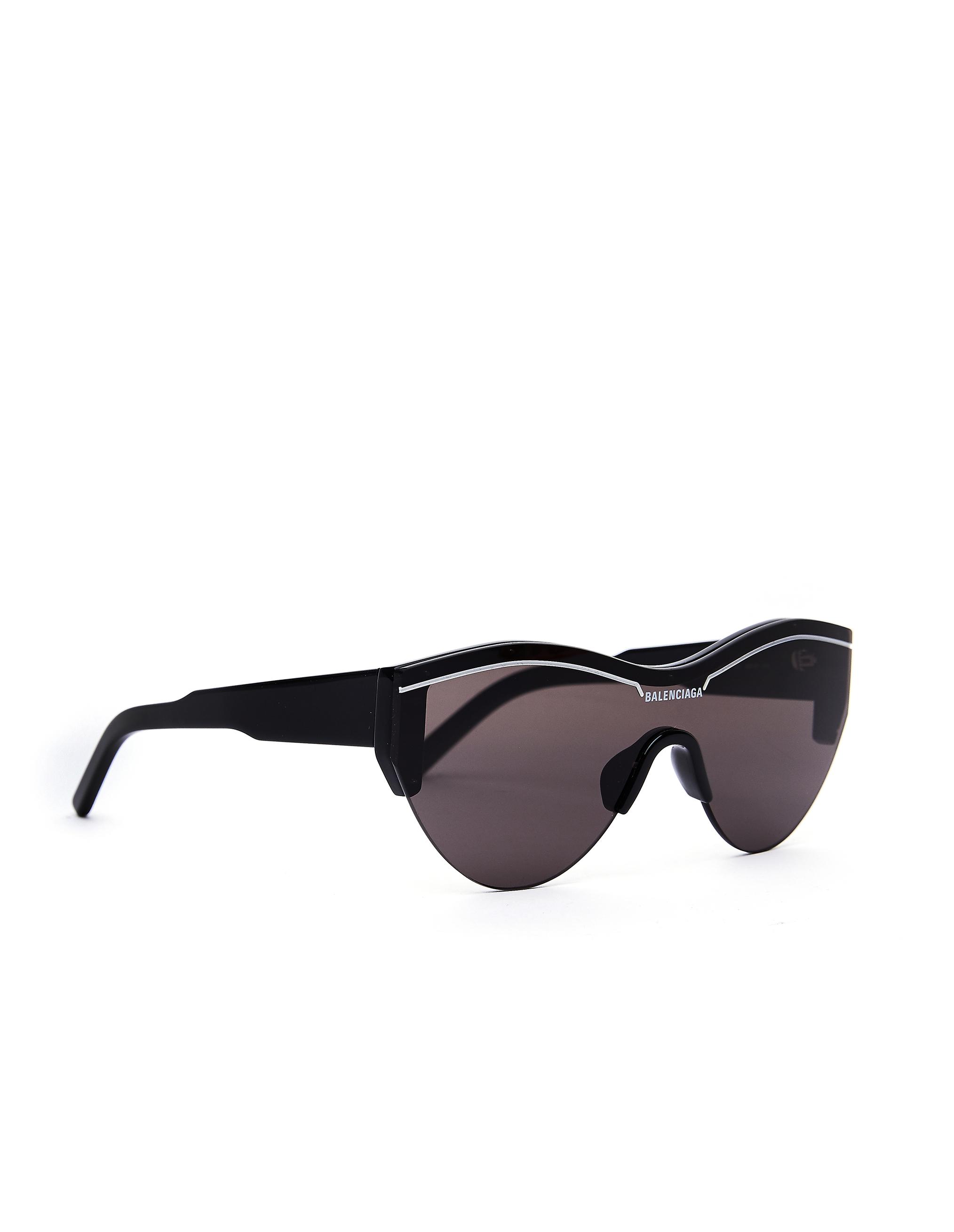 Balenciaga Black Ski Cat Sunglasses