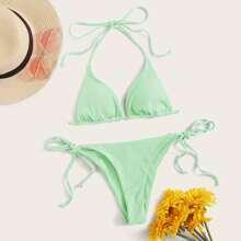 Bikini Badeanzug mit Riss